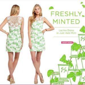 NWT Lilly Pulitzer Mini Dress Just Add Mint Lacina